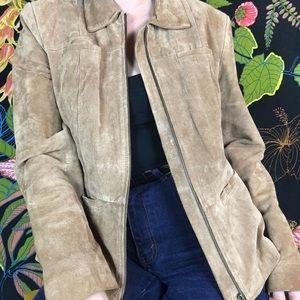 VINTAGE / Leather Zip Up Jacket